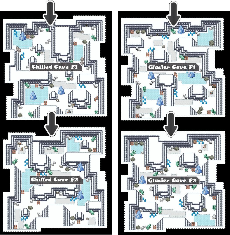 Zone 6 Ice Caves Zone Map Pokemon Like MMORPG