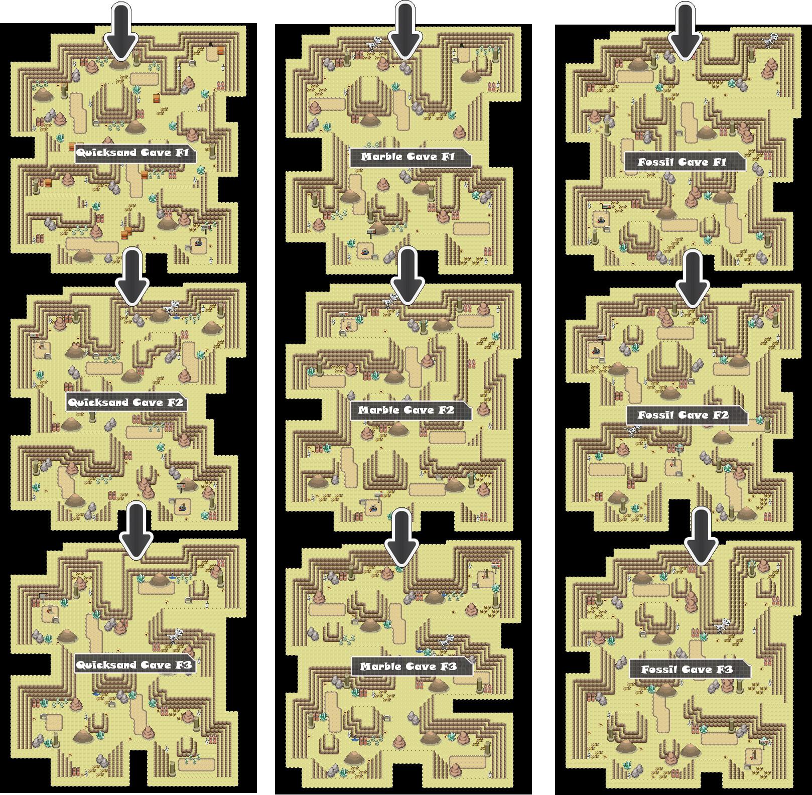 Zone 7 Ground Caves Zone Map Pokemon Like MMORPG