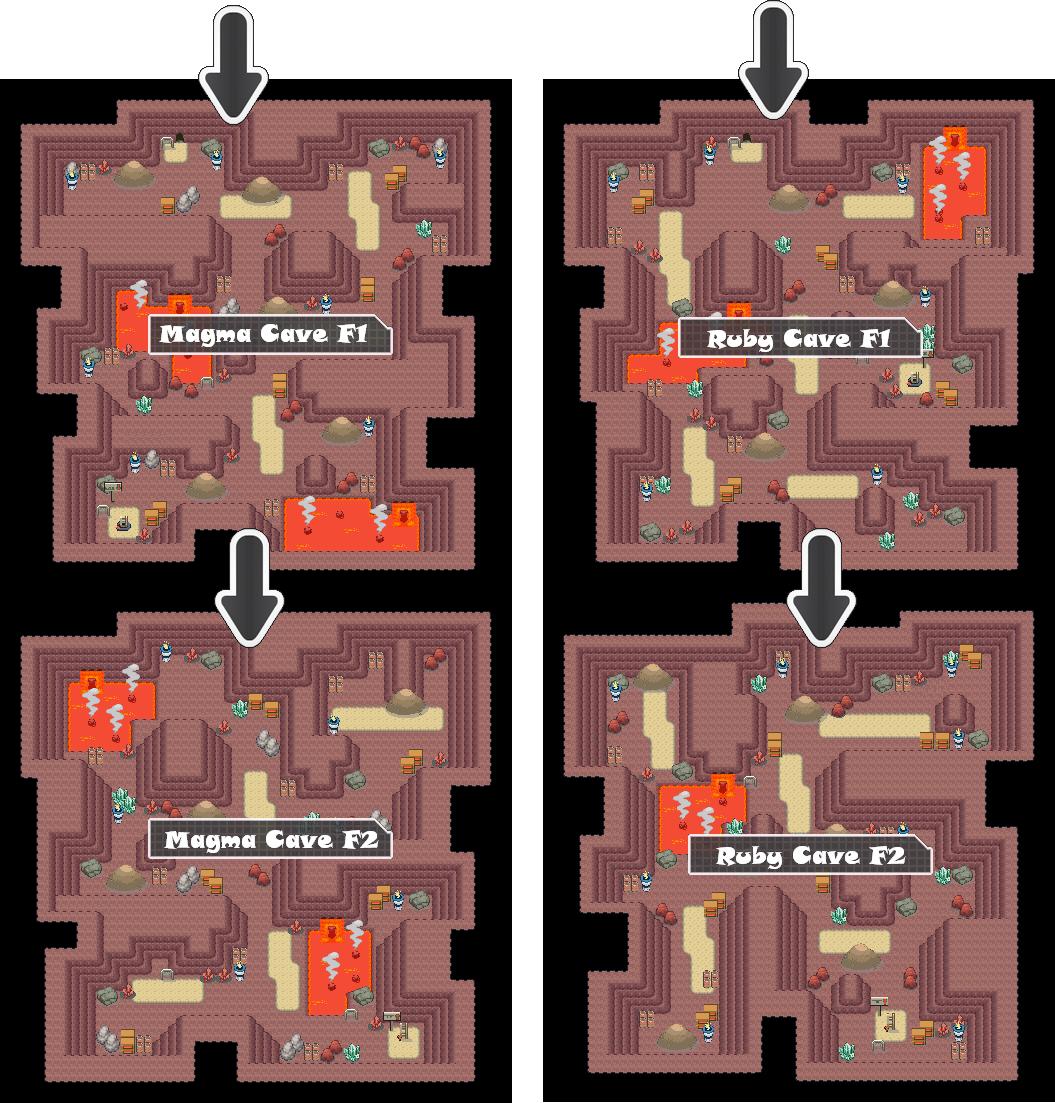 Zone 9 Fire Caves Zone Map Pokemon Like MMORPG