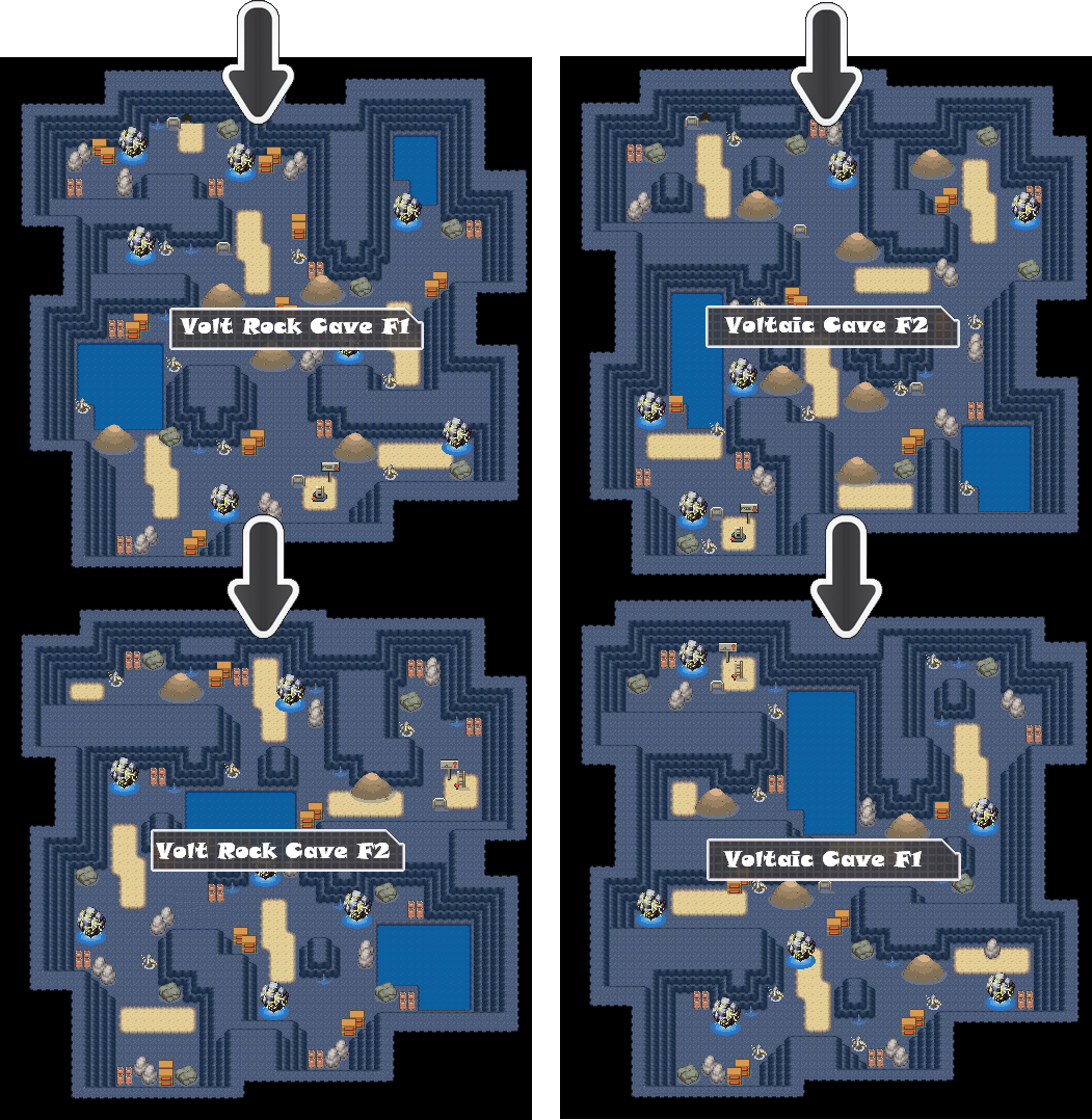 Zone 10 Electric Caves Zone Map Pokemon Like MMO