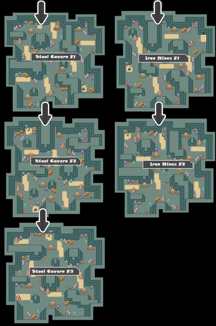 Zone 13 Steel Caves Zone Map Pokemon Like MMORPG by MonsterMMORPG