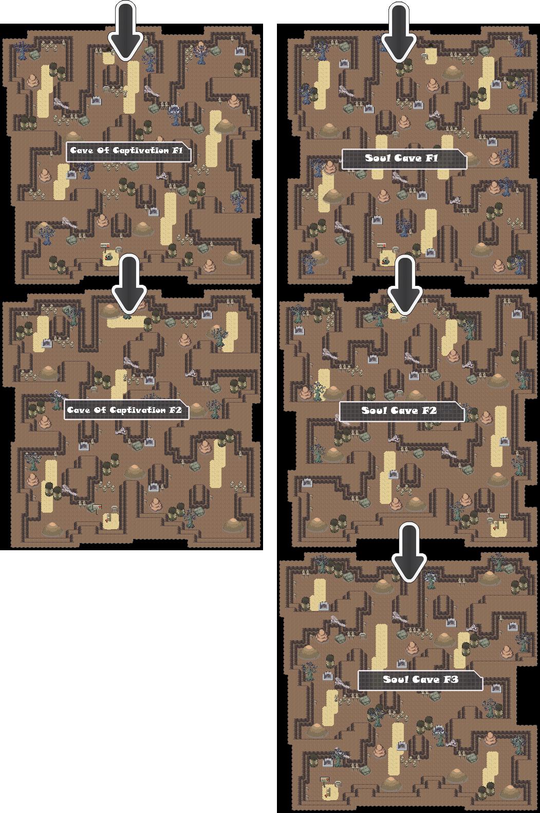 Zone 16 Ghost Caves Zone Map Pokemon Like MMORPG
