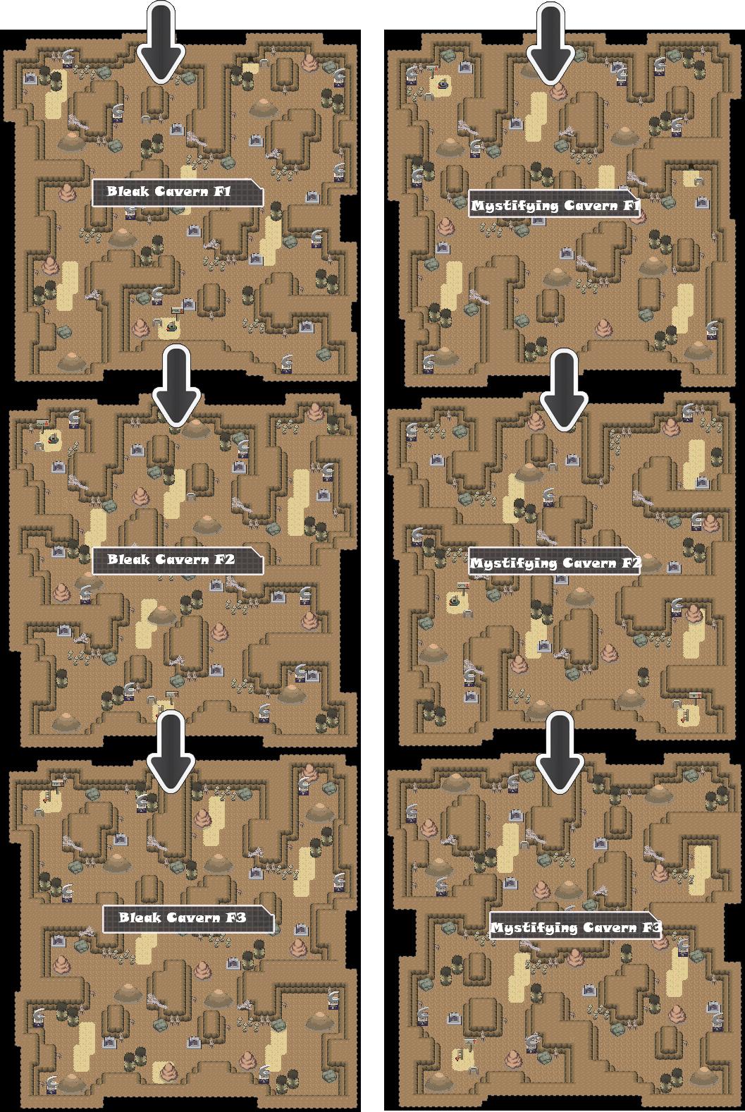 Zone 18 Dark Caves Zone Map Pokemon Like MMORPG