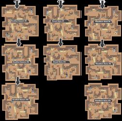 Zone 19 Mixed Caves Zone Map Pokemon Like MMORPG