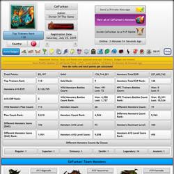 MonsterMMORPG Pokemon Fakemon Game Player Profile