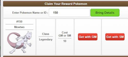 Reward Pokemon Interface by MonsterMMORPG