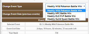 Weekly Events Filtering Screen