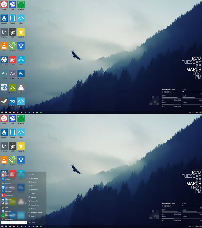 Custom Windows 10 Rainmeter Setup by tmpowis on DeviantArt