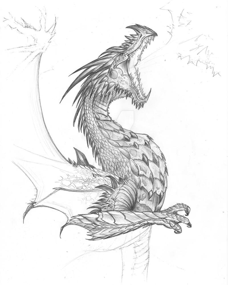 Dragon breathing fire by Hynael on DeviantArt