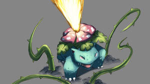 Pokemon Doodle - Venusaur is using Solar Beam!