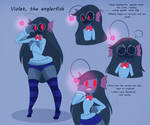 Violet the angler fish by montdoodle