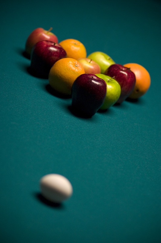 Pool and Fruits by TrappedChild