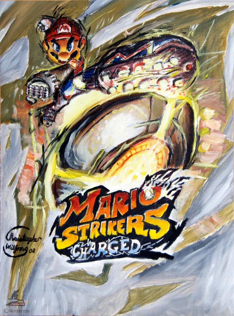 Mario Strikers - Oil Paint by Tsitra360