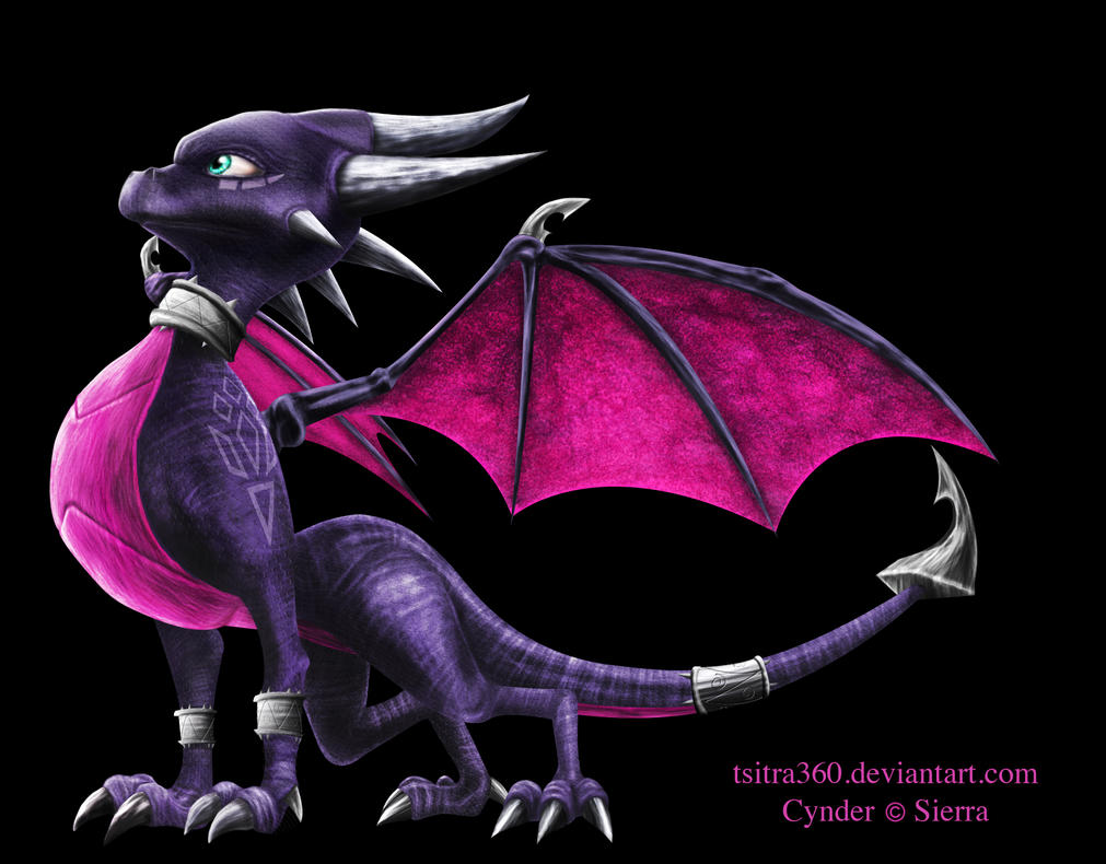 First Digital Painting Cynder by Tsitra360