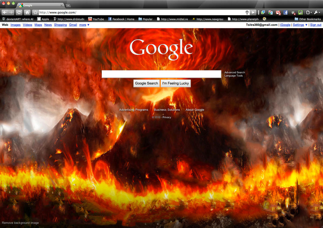 how to change my google background