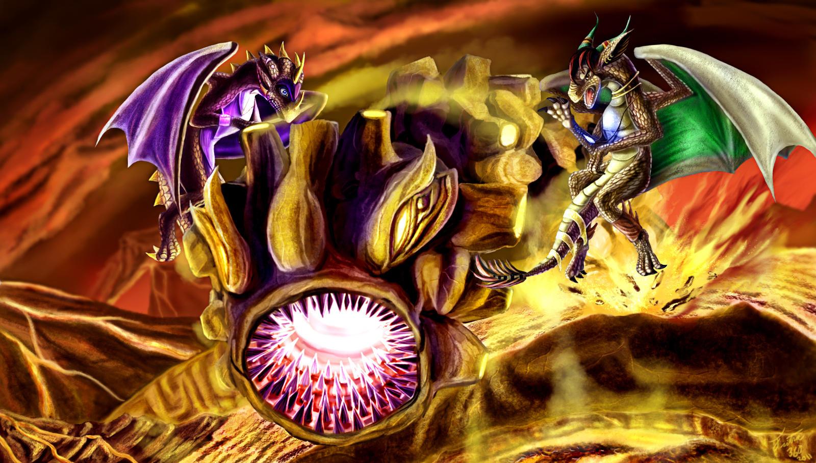 Lava Worm by Tsitra360