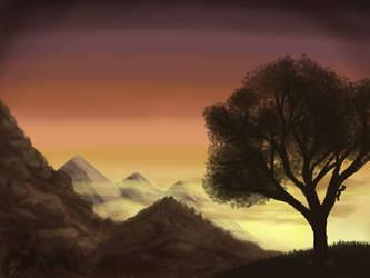 Rising_iPad Painting by Tsitra360