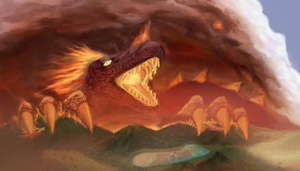 Wallow Fire Dragon by Tsitra360
