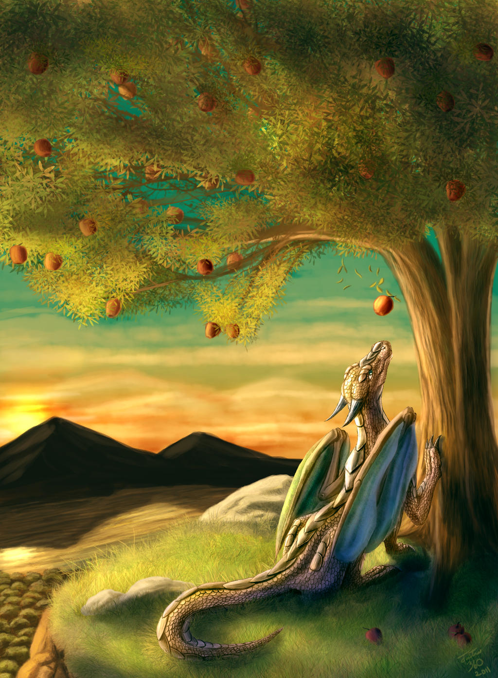 Apple Dragon by Tsitra360