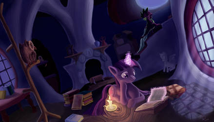 Late Night Studying by Tsitra360