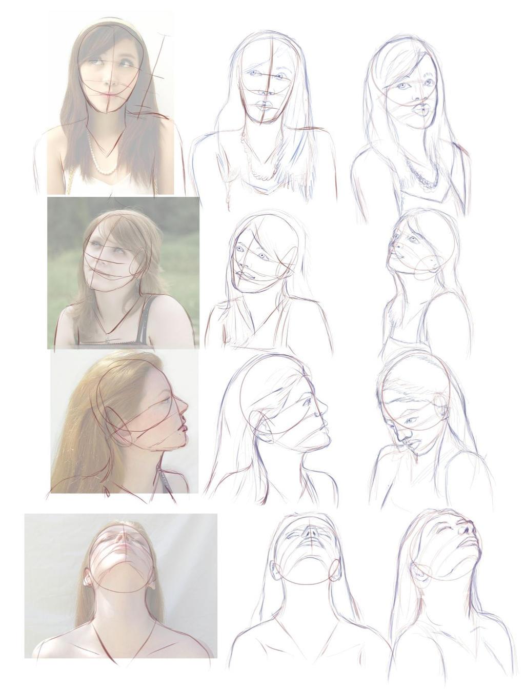 Art Study: Female Head Turns by Tsitra360 on DeviantArt