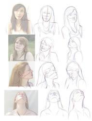 Art Study: Female Head Turns
