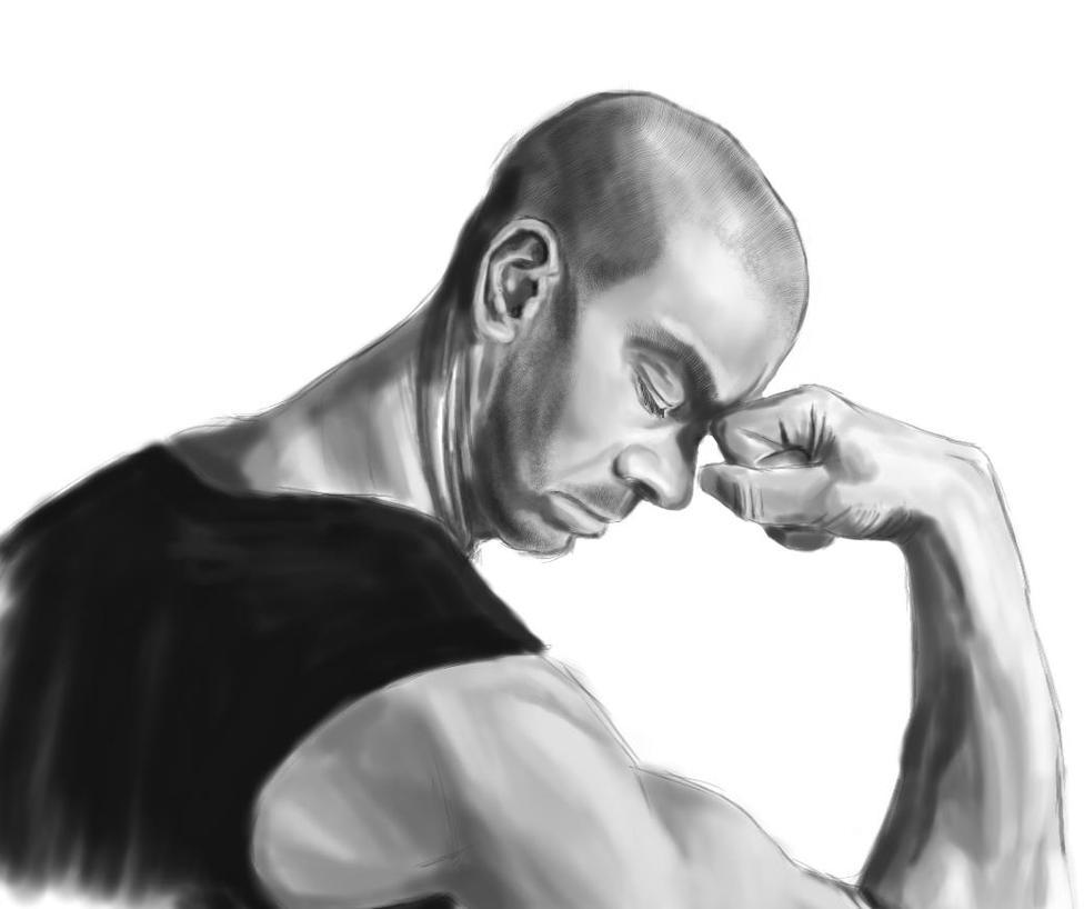 MaleSketch1 by Tsitra360