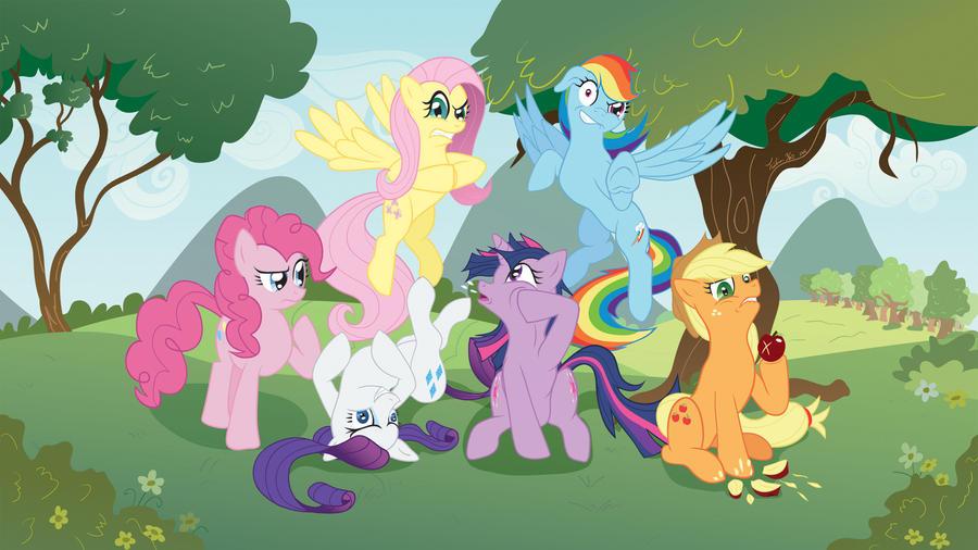 Ponies Gone Insane by Tsitra360