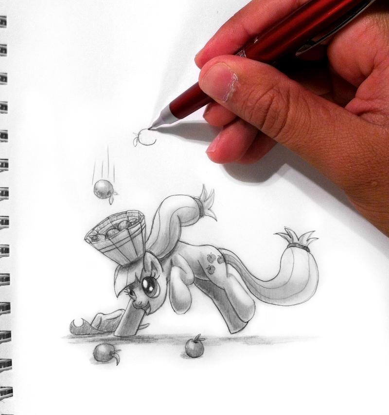 Drawn To Life_Applejack by Tsitra360