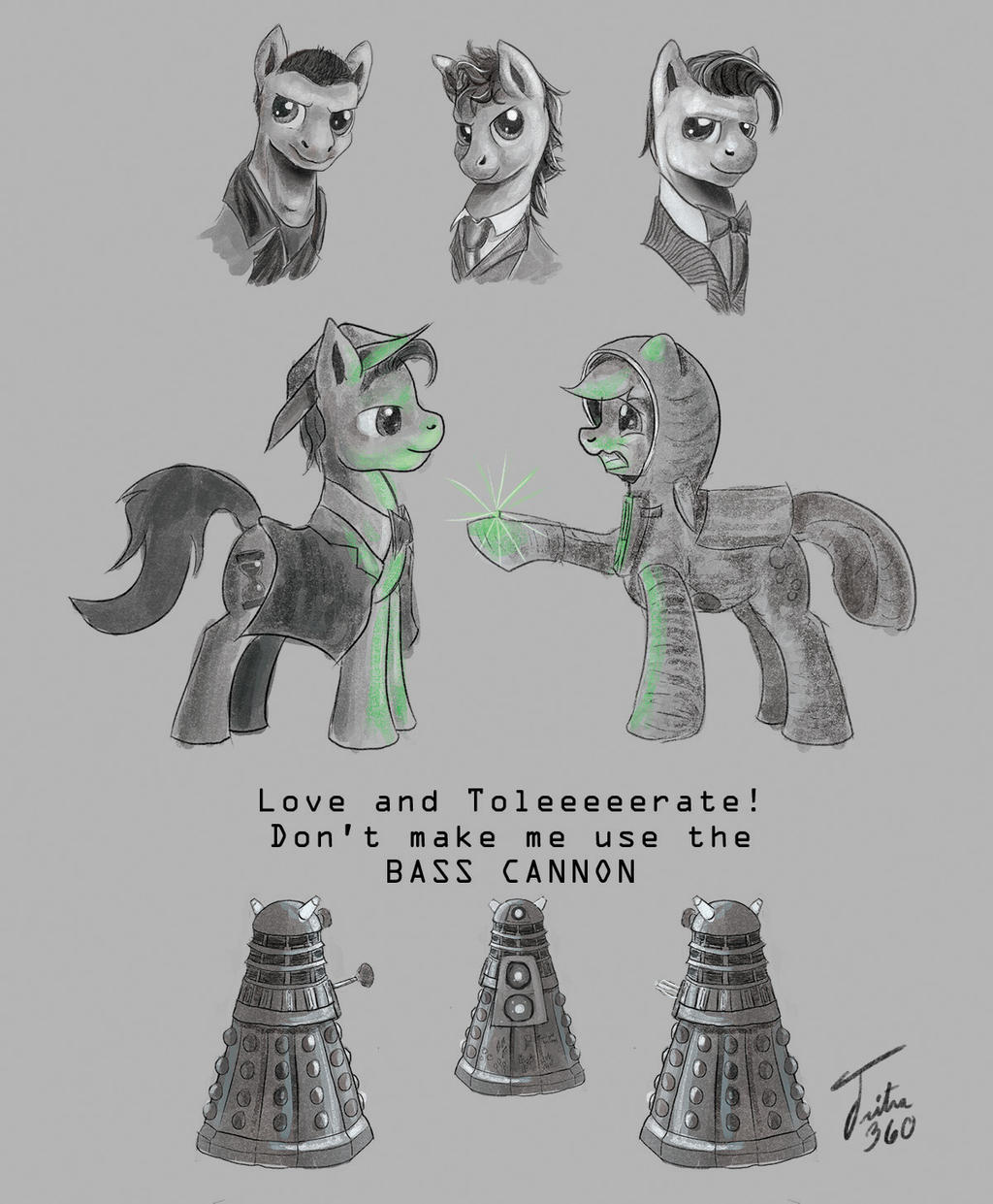 DoctorHooves Sketches by Tsitra360