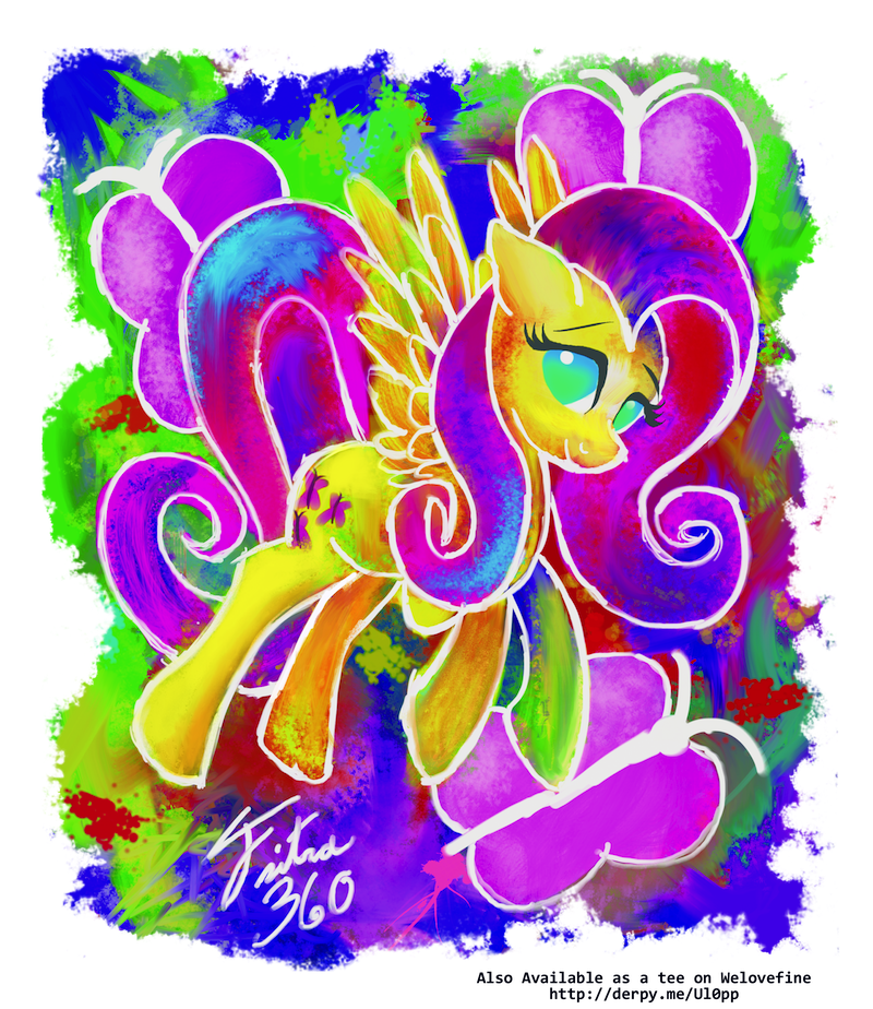 Fluttershy Paint by Tsitra360