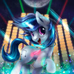 Vinyl Scratch Button