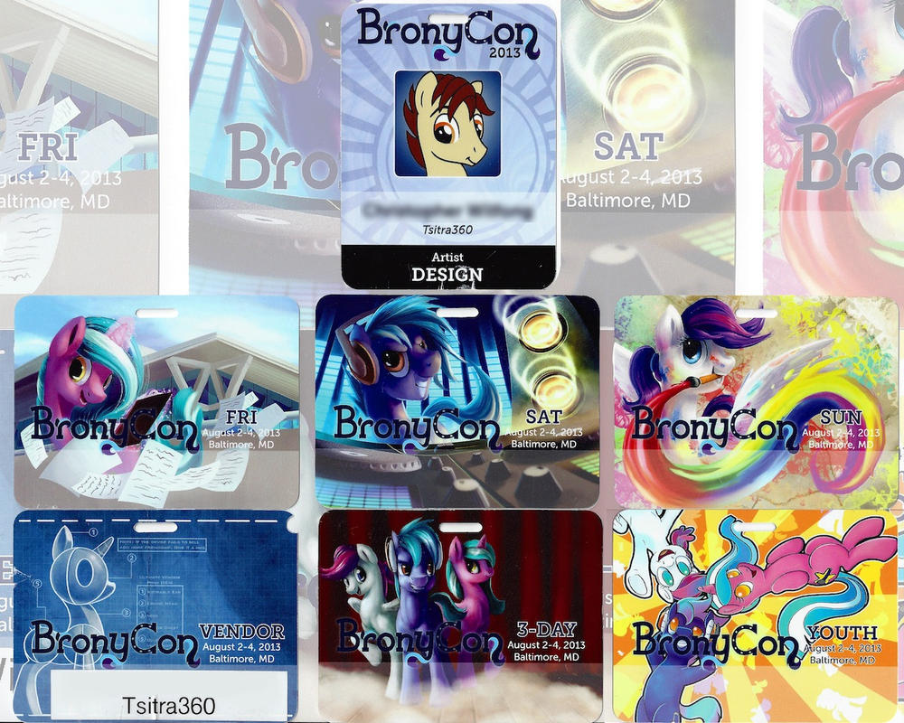 Bronycon Badges! by Tsitra360