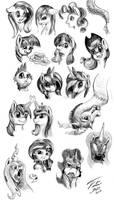 Pony Heads by Tsitra360