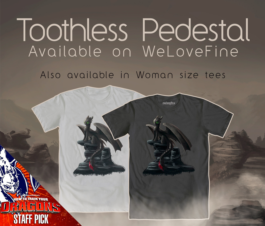 Toothless Pedestal Tees by Tsitra360