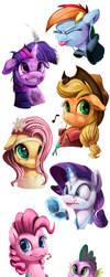 Teen Ponies_SpeedPaints by Tsitra360
