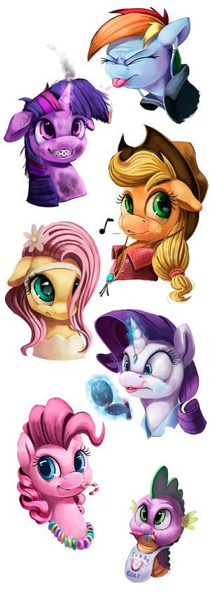 Teen Ponies_SpeedPaints