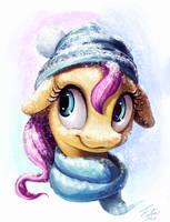 Snow Pony_Fluttershy by Tsitra360