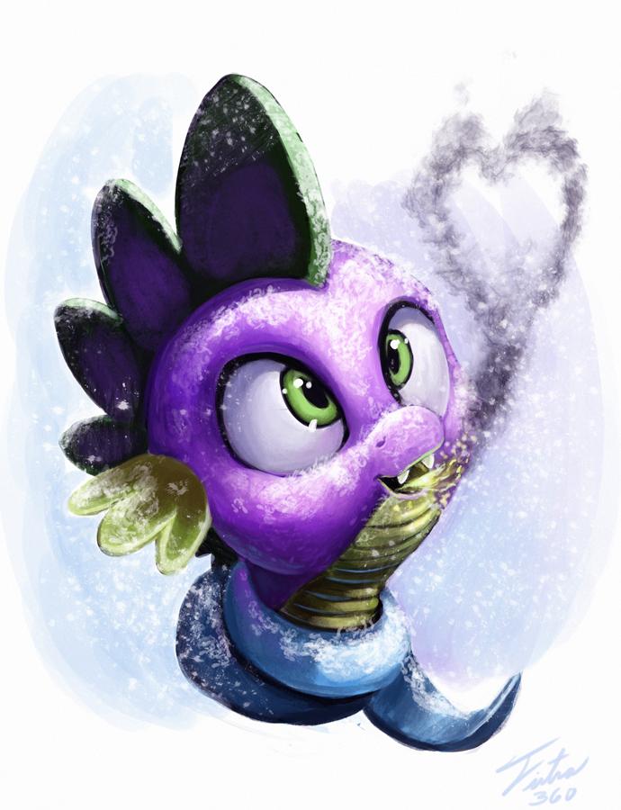 Snow Pony_Spike by Tsitra360