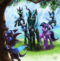 Take Five (Fic Cover art for Changeling The Movie) by Tsitra360