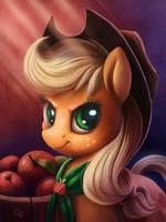Applejack iPad Portrait by Tsitra360