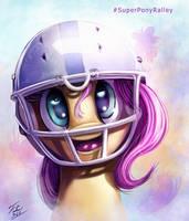 Super Bowl Pony _ Fluttershy by Tsitra360