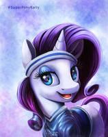 Super Bowl Ponies _ Rarity by Tsitra360