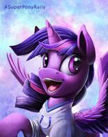 Super Bowl Ponies_ Twilight by Tsitra360