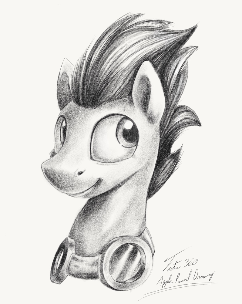 Soarin apple pencil drawing by tsitra360