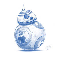 BB-8 iPad sketch