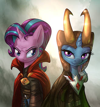 Strange Loki Ponies (Collab with Vest) by Tsitra360