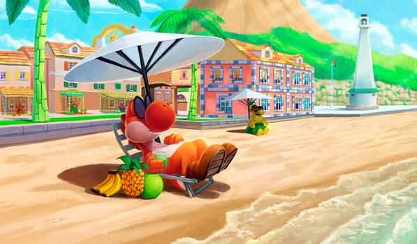 Yoshi Beach Day
