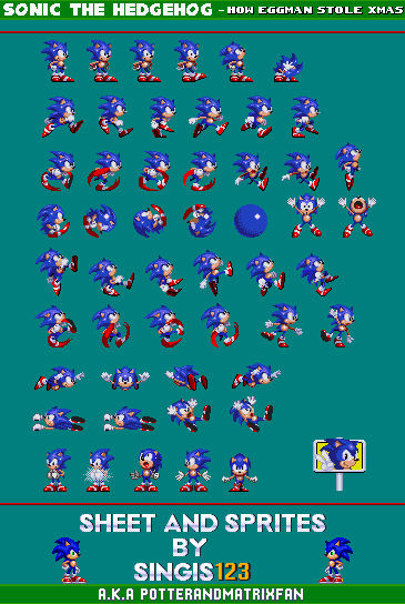 Sonic Th How Eggman Stole Xmas Sprite Sheet By Singis123 On Deviantart