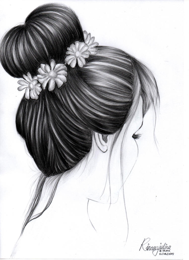 Hair Sketch By Rinaarjulina10 On Deviantart